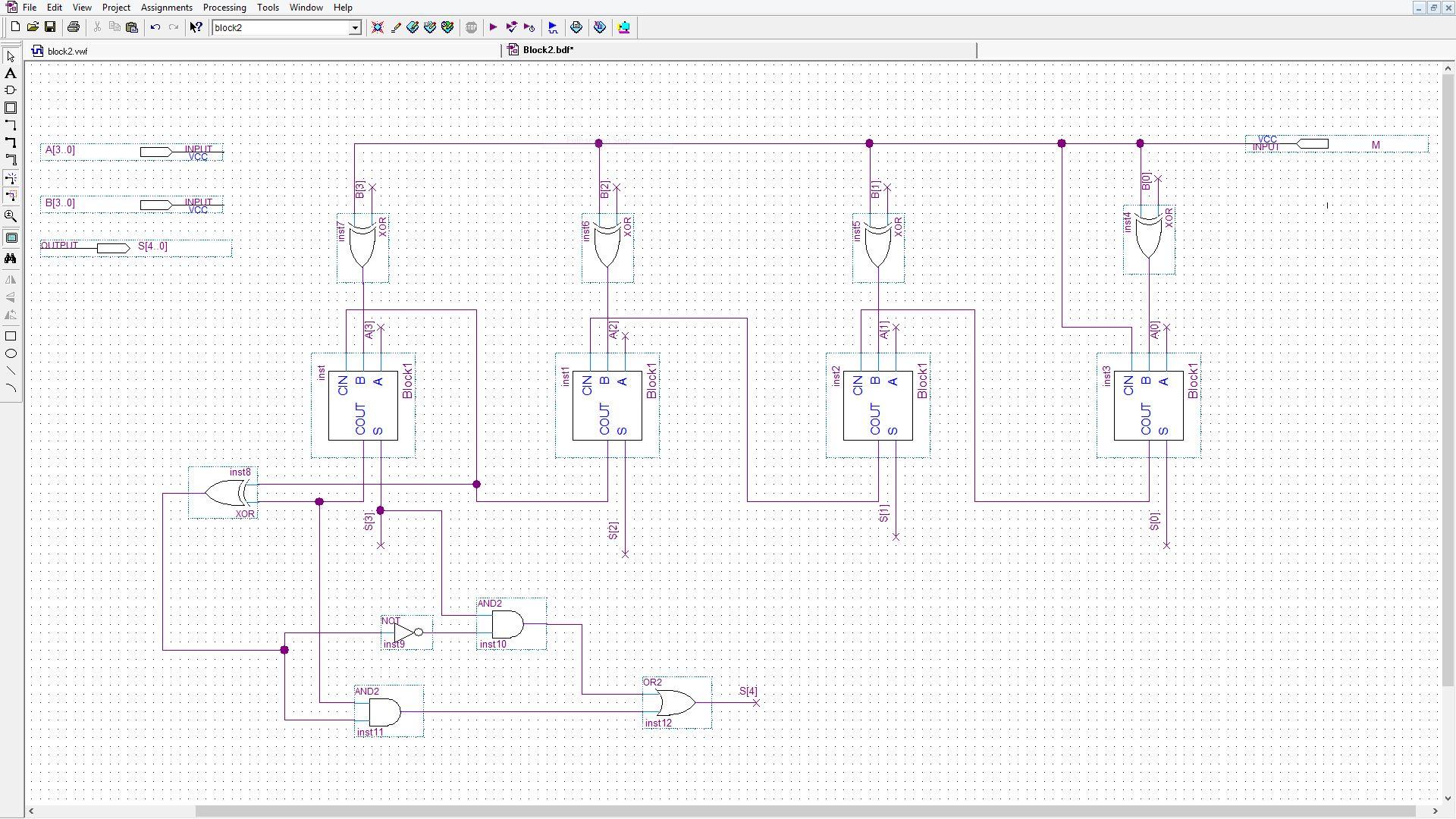 Photo of جمع کننده و تفریق کننده چهار بیتی در سیستم متمم دو (علامت دار)